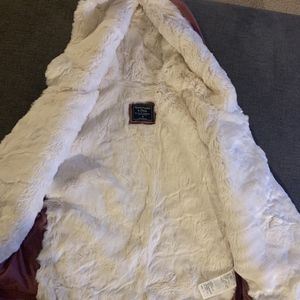 Abercrombie & Fitch Faux Fur Lined Hoodie